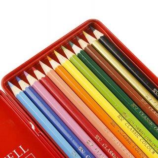 مداد رنگی فلزی قرمز 12 رنگ فابركاستل