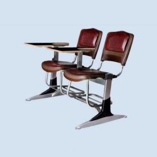 صندلی دانشجویی دو نفره روکش چرم